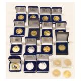 (19) Gold & Silver Plated Replica Coins