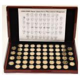 1999-2009 Gold Plated State Quarter Set In Box