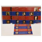 (5) US Mint Presidential $1 Unc. Coin Sets