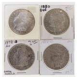 (4) Mixed Date Silver Morgan Dollars