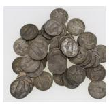 (43) Mixed Date Silver Jefferson War Nickels