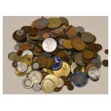 4.2 Pound Bag Of Mixed Tokens & Medals