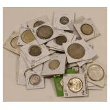 13.02 Troy Oz Lot Of Mixed World Coins