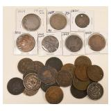 (28) US Large Cents 1816-1854