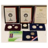 (6) Silver US Commemorative Coins & Medals