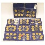 (11) Readers Digest Brass Presidential Medal Sets