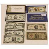(11) Mixed Series US Two Dollar Bills