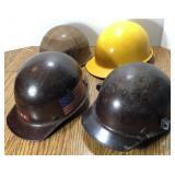 (4) Vintage MSA Skullgard  Fiberglass Safety