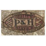 Vintage Pawling & Harnischfeger Crane Cast Iron