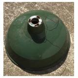 """Vintage 14"""" Green Porcelain Service Station Lamp"""