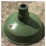 """Vintage 12"""" Green Porcelain Service Station Lamp"""