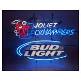 Large Bud Light Joliet Jackhammers Neon Sign