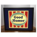 Lighted Good Humor Advertising Sign Measures