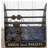 Vintage Vulco Steel Pulleys Metal Store Display