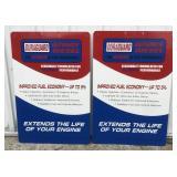 (2) Large NOS Metal Duraguard Diesel Advertisng