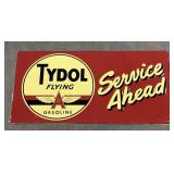Large Embossed Tin Tydol Flying A Gasoline
