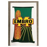 Embro Seeds Metal Advertising Sign Measures