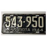 1944 Minnesota License Plate