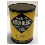 Vintage Cen-Pe-Co Motor-Klenz One Quart Oil Can