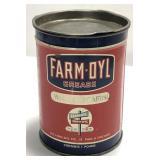 Vintage Farm-Oyl One Pound Grease Can