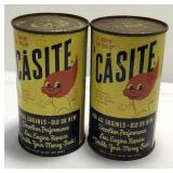 (2) Vintage Casite Oil Additive One Pint Can