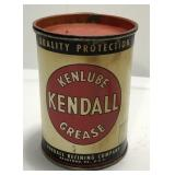 Vintage Kendall Kenlube 1 Pound Grease Can