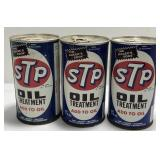 (3) Vintage STP Oil Treatment 15 Ounce Metal Can