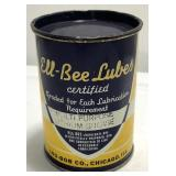 Vintage Ell-Bee Lubes One Pound Grease Can