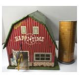Vintage Marx Tin Litho Happy Time Barn and Silo /
