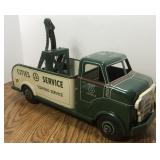Vintage Marx Tin Litho Cities Service Wrecker