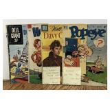 Vintage Comic Book Lot / Popeye / Davy Crockett /