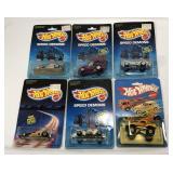 (6) Vintage 1980s Hot Wheels On Blister Card