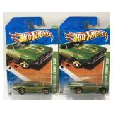 (2) Hot Wheels Treasure Hunt 71 Mustang Funny Car