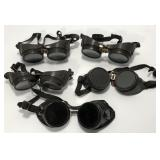 (5) Vintage Steampunk Welding Goggles Sold times