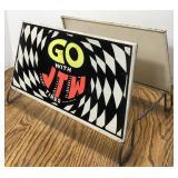 Vintage JTW Tires Metal Tire Display Stand Sign /