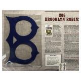 1916 Brooklyn Robins Cooperstown Baseball Felt