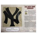 1978 New York Yankees Cooperstown Baseball Felt