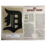 1911 Detroit Tigers Cooperstown Baseballs Felt