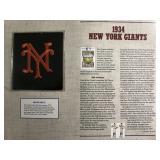 1934 New York Giants Cooperstown Baseball