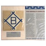 1910 Brooklyn Dodgers Patch By Willabee & Wards /