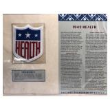 1942 Health Embroidered Patch By Willabee & Wards