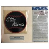 1949 Baltimore Elite Giants Embroidered Patch By
