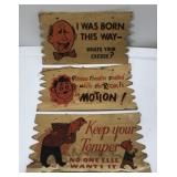 (3) Vintage Novelty Sign / Postcard Measures