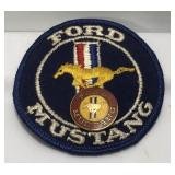 Vintage Ford Mustang Patch & Enameled Pin  Patch