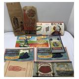 Lot of Vintage Unused Advertising Labels & More