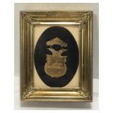 1915 Lodi Wisconsin Home Coming Medal Framed
