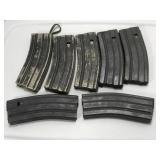(7) AR-15 5.56mm 30 round Magazine  Lot includes