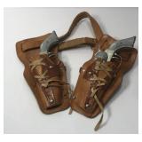 Vintage Roy Rogers Cap Guns With Holster Belt