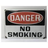 Vintage Porcelain Danger No Smoking Sign by the