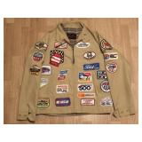 Vintage Racing Jacket Full Of Patches